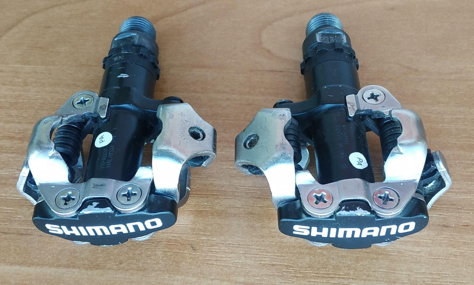 Педали Shimano PD-M520 контактные