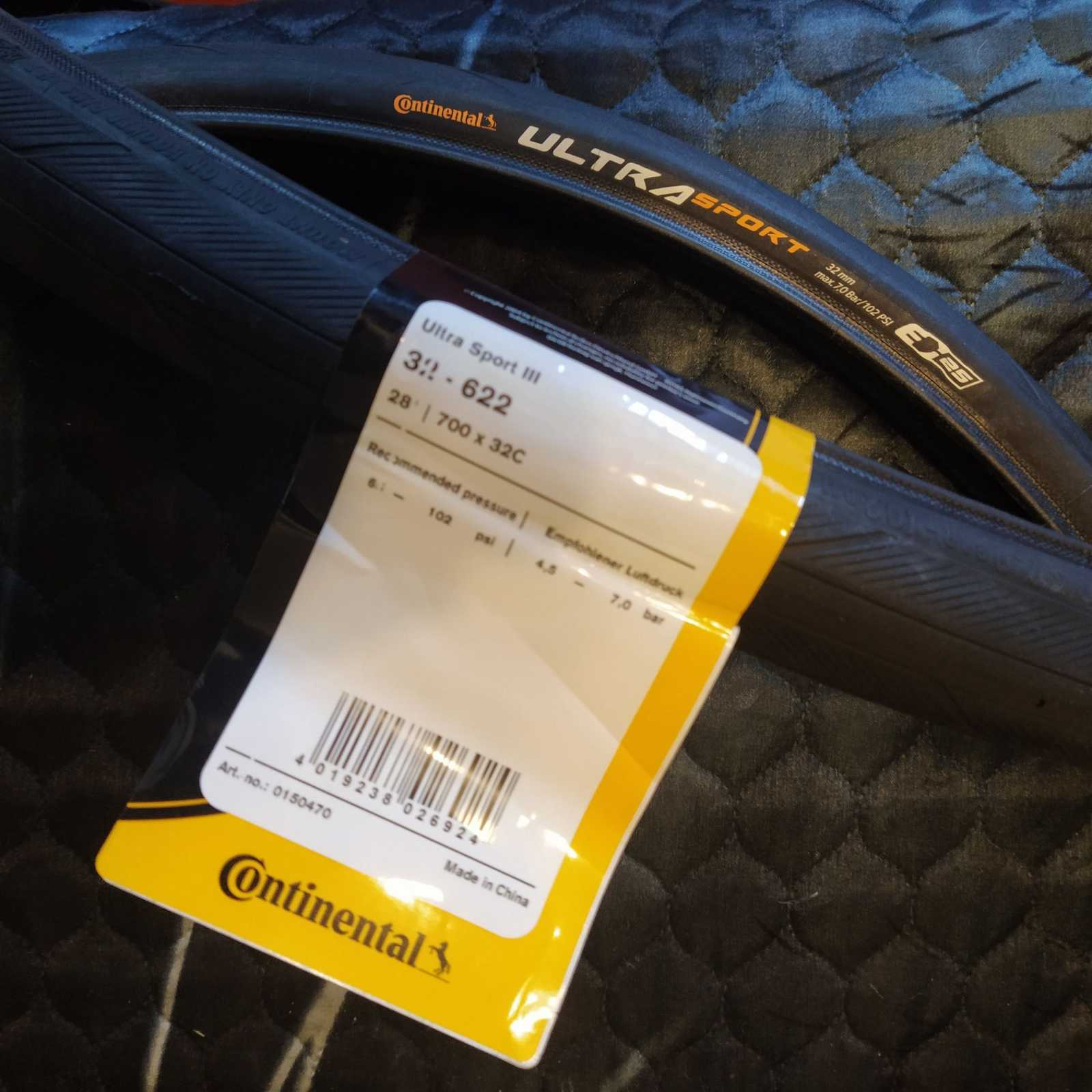 Continental Ultra Sport 3 - 32/622 проволочный корд