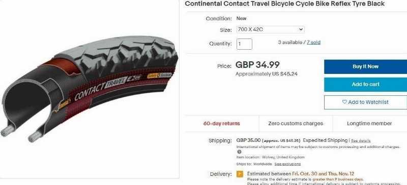 Велопокрышка Continental Contact Travel 42-622 700X42C 28X1.6 29X1.6