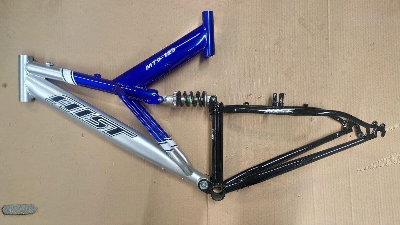 Рама велосипедная Aist сталь двухподвес. Новая.