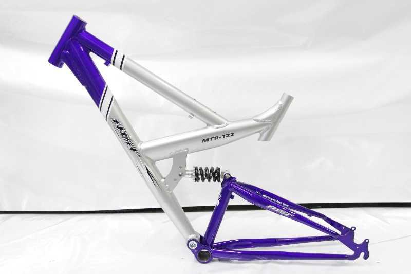 Рама велосипедная Aist алюминий/сталь двухподвес. Новая.