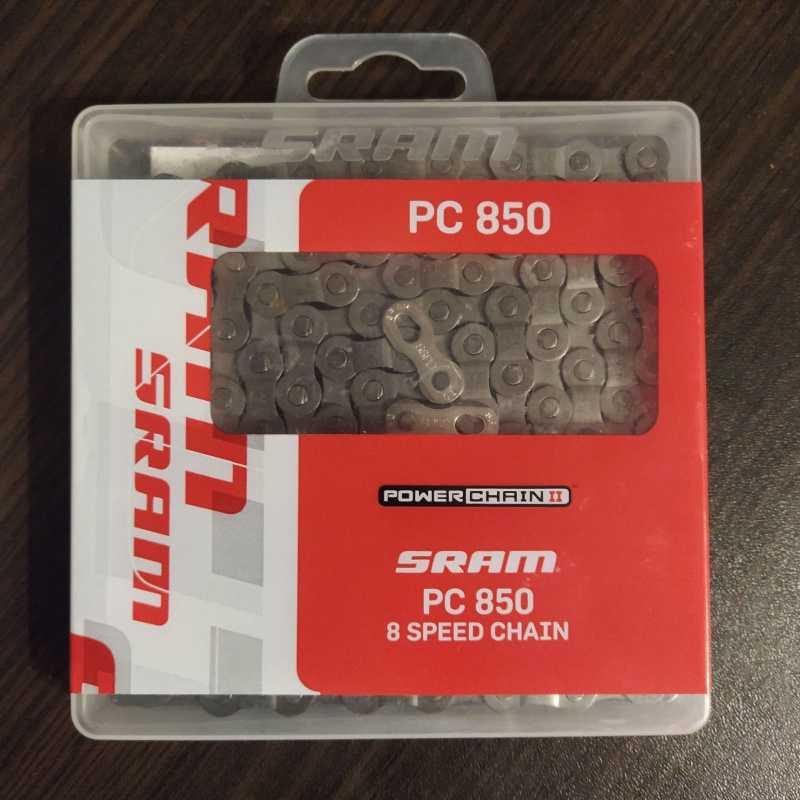 8 скоростная Sram PC 850  замок в комплекте 114 звеньев