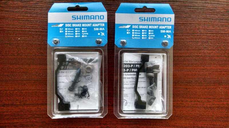 два адаптера Shimano PM 7