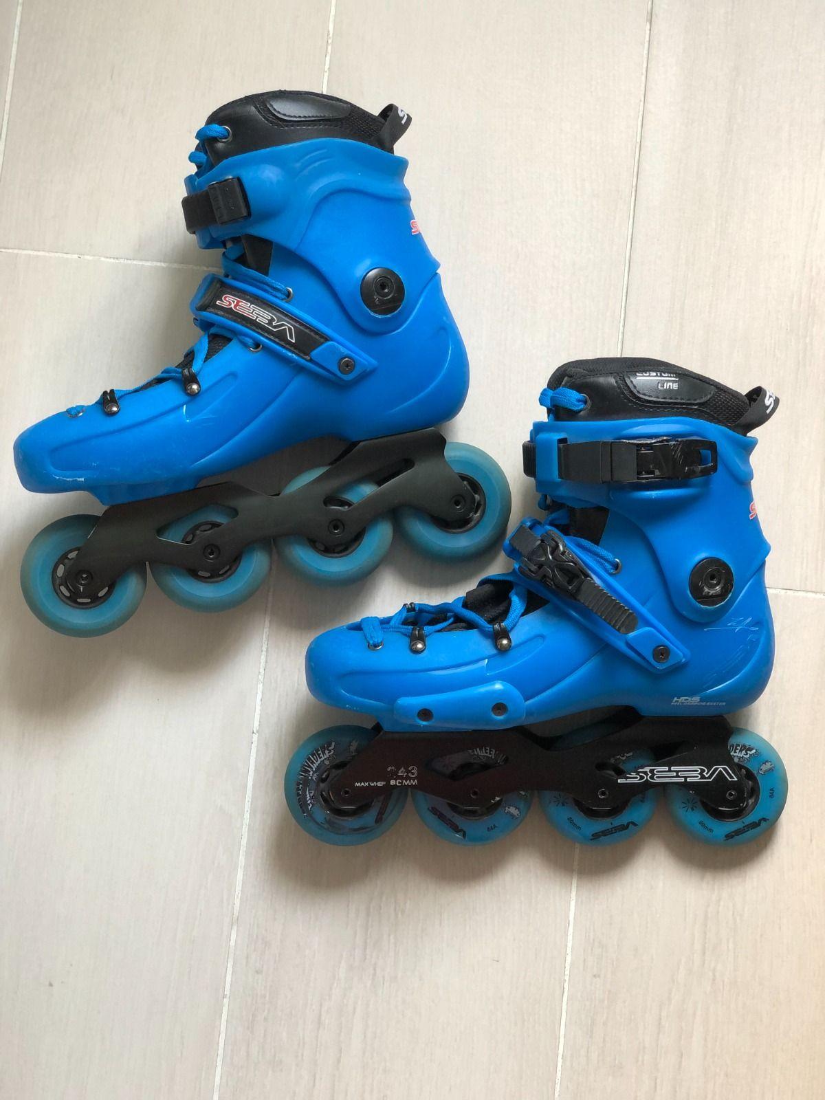 Роликовые коньки SEBA FR1 80 Blue размер ноги 42-43 (8 UK)