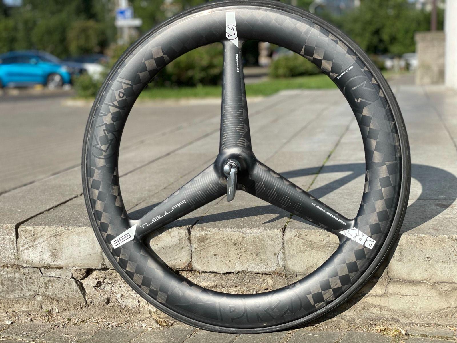 SHIMANO PRO TEXTREME CARBON 3-SPOKE TUBULAR - самое быстрое трехспицевое колесо в мире!