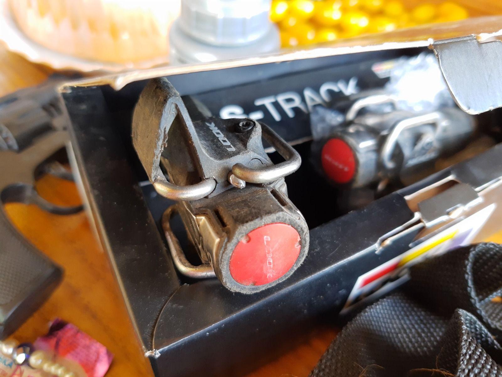 Педали Look S-Track с шипами. На восстановление/запчасти