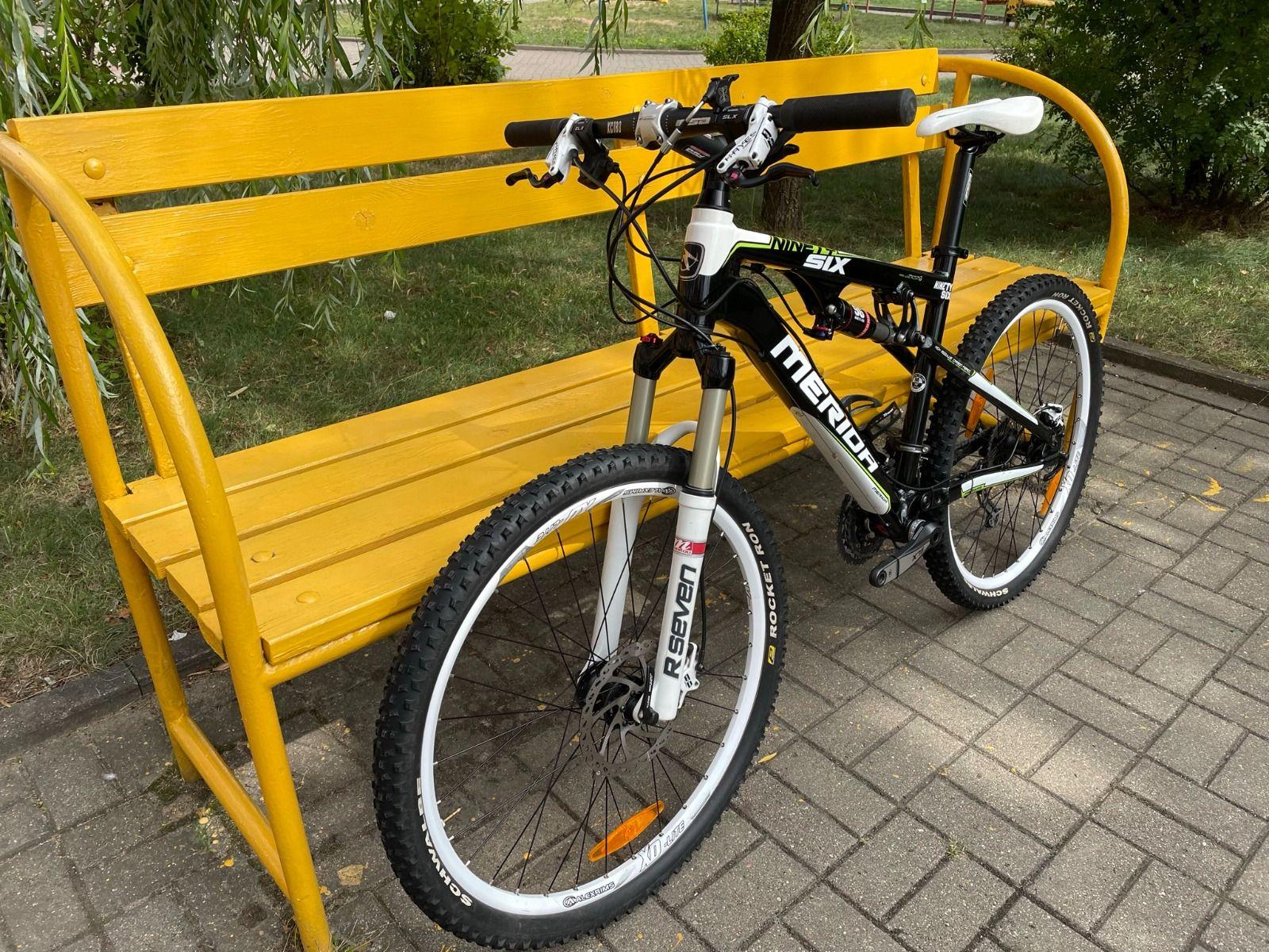 Горный велосипед двухподвес Merida Ninety-Six HFS 1000-D, алюминий + карбон. (MTB, XC кросс-кантри), размер М.  12,7кг.