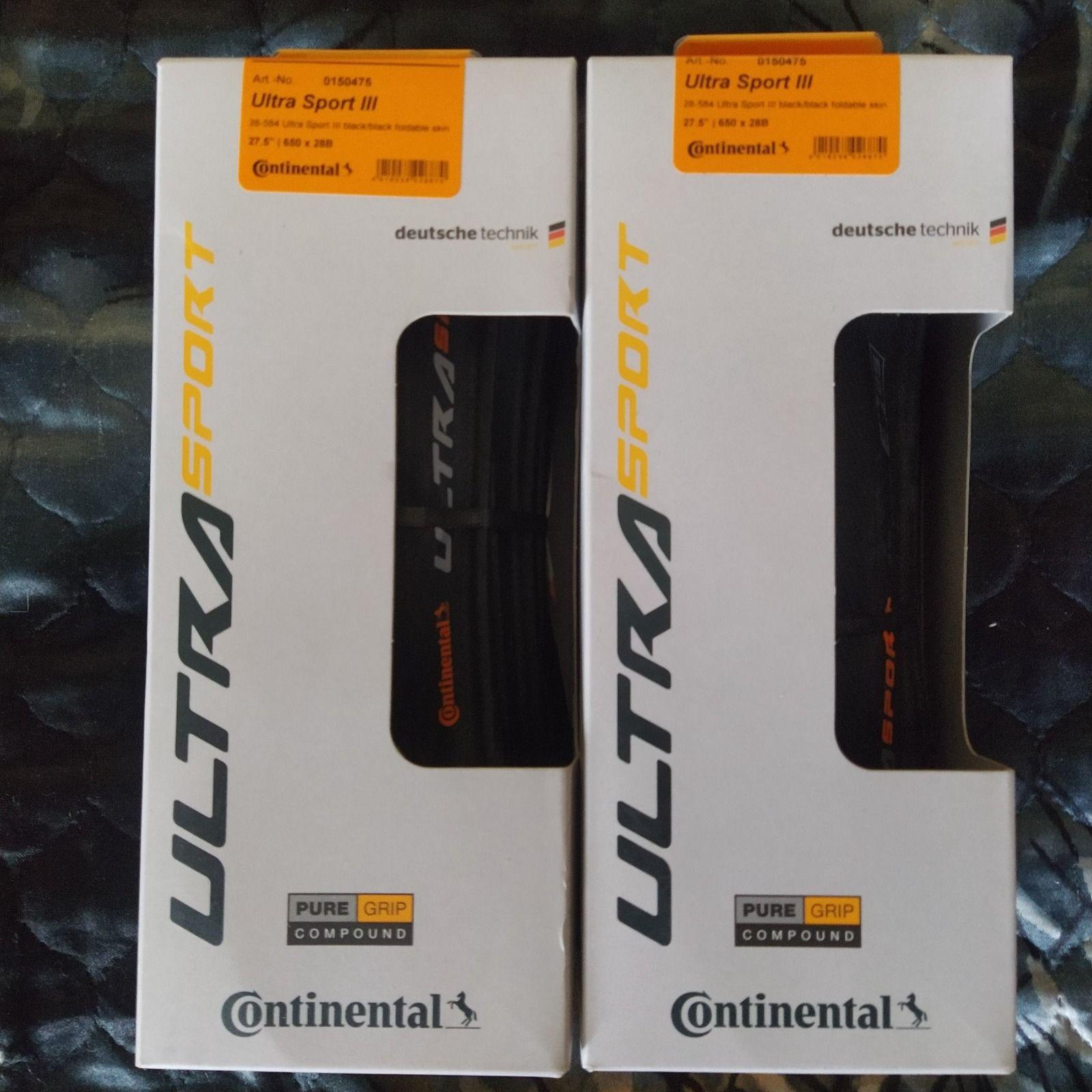 Сontinental Ultra Sport 3 622/23 622/25 622/28  622/32 28-584 27.5 650/28B складные, проволка