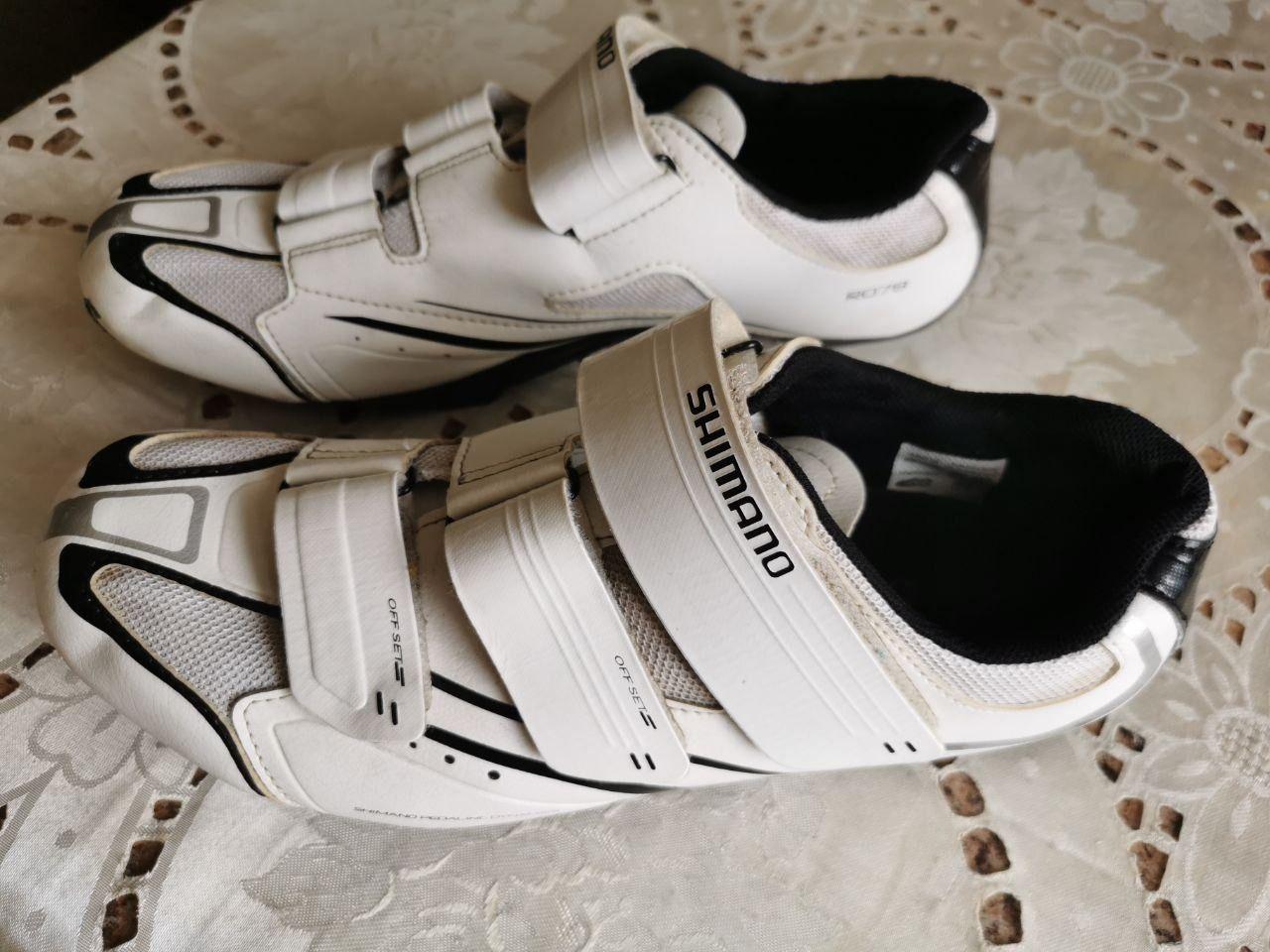 Велотуфли Shimano R078W SPD-SL + контакты.