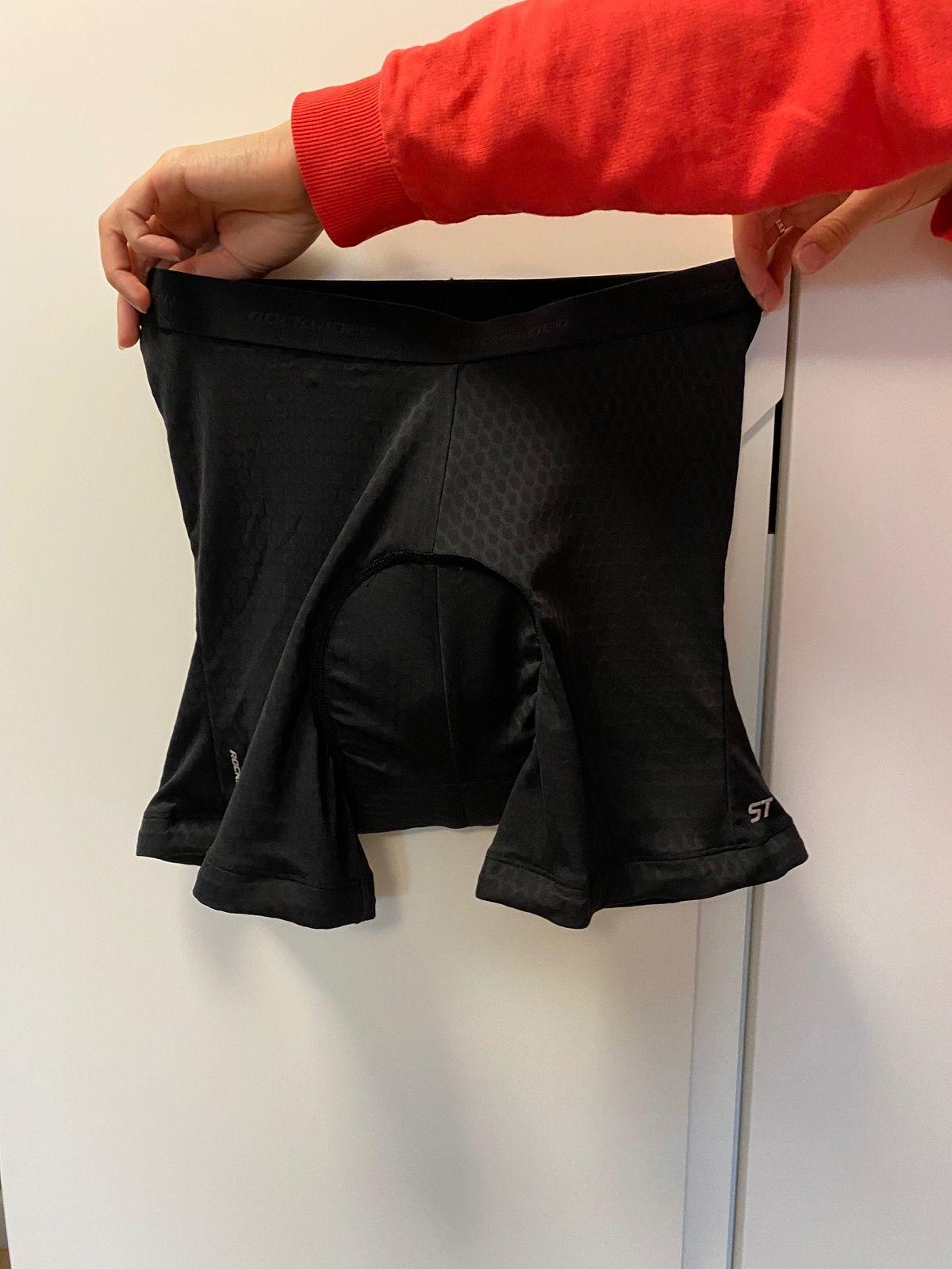 Велоштаны без лямок + велотрусы (трусы одеваются под шорты) decathlon