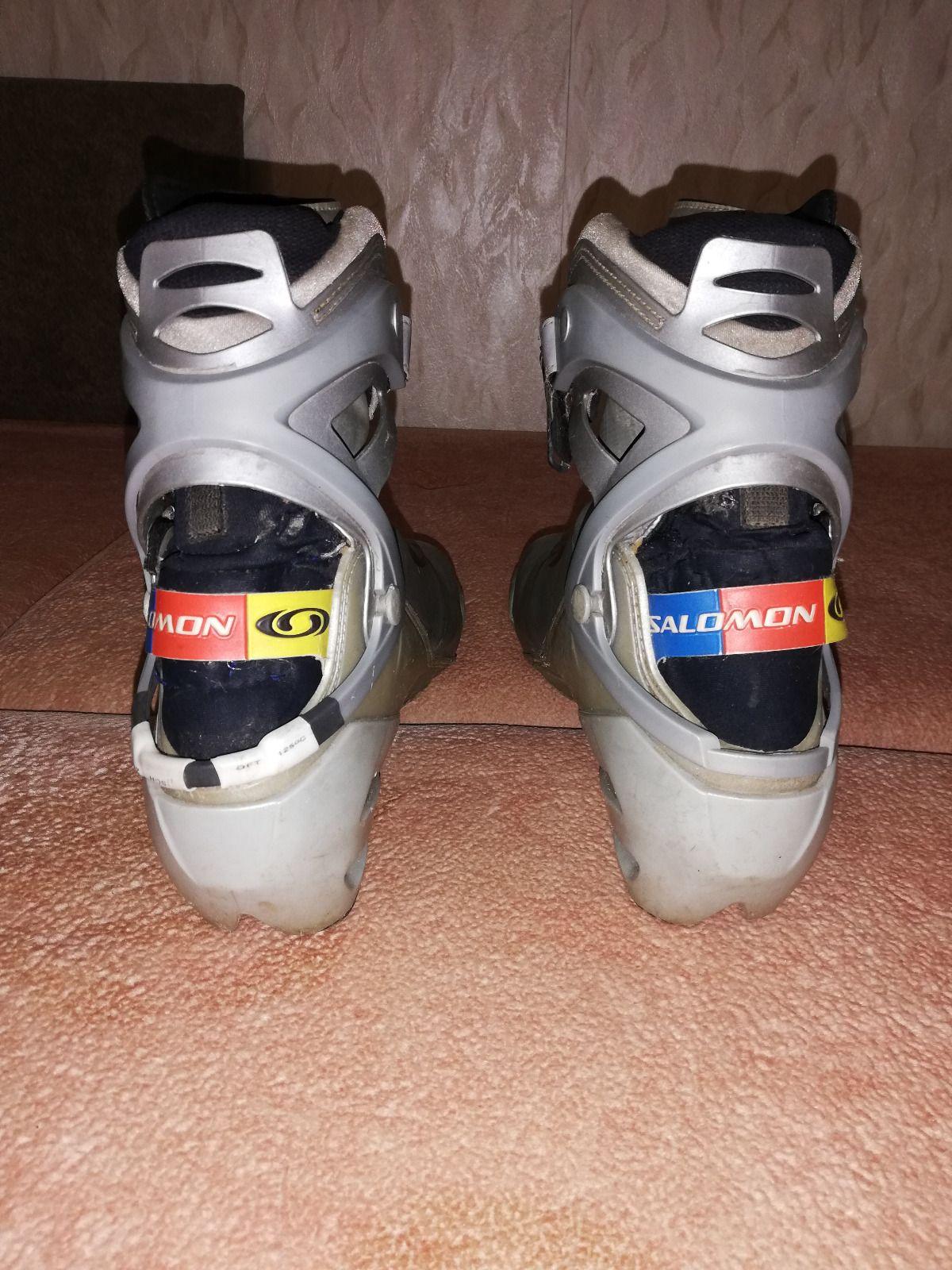 Лыжные ботинки Salomon  carbon PRO skate, р.45