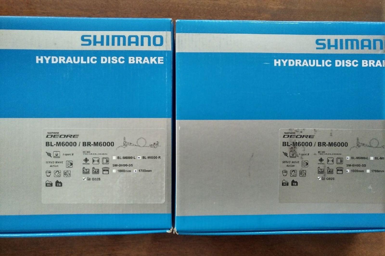 Тормоза Shimano Deore BR-M6000